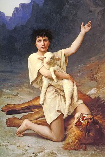 The Shepherd David, Elizabeth Gardner Bougereau (16X24)