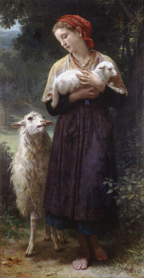 The Shepherdess-1873, Bouguereau