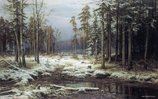 The First Snow , Ivan Shishkin (22X28.5)