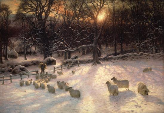 The Shortening Winter's Day is Near a Close,Joseph Farquharson (16X24)