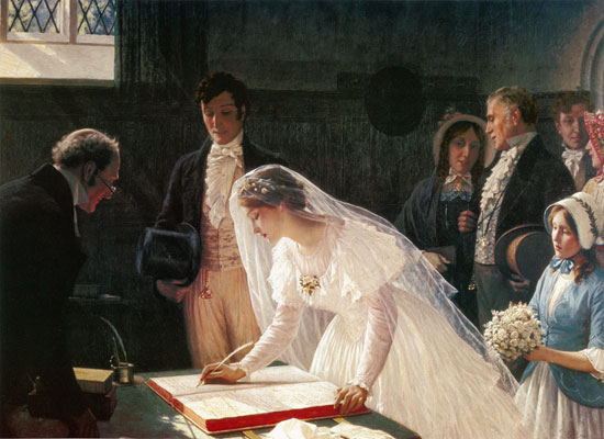 Signing the Register, Leighton (16X22)