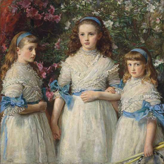 Sisters, Millais (22X22)