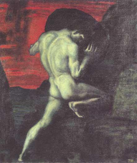 Sisyphus, von Stuck (16X19)