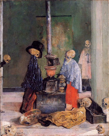 Skeletons Trying To Warm Themselves, James Ensor (18X22)