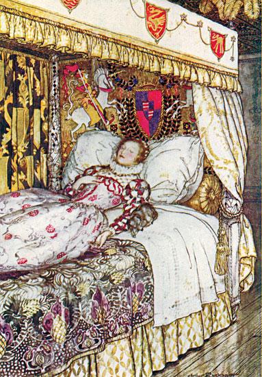 Sleeping Beauty, Arthur Rackham (12X17.25