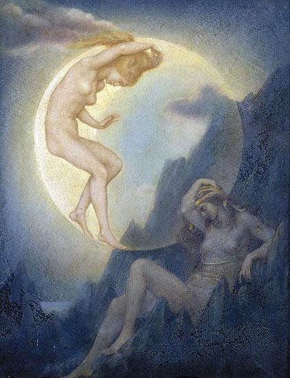 Sleeping EarthWaking Moon, Evelyn De Morgan (9X11.8)