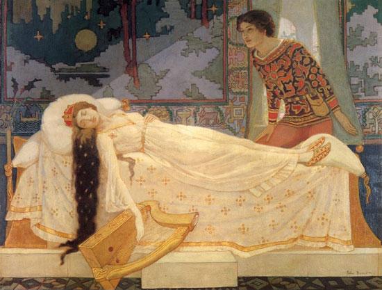 Sleeping Princess, John Duncan (16.7X22)