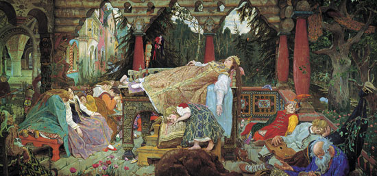 Sleeping Princess, Victor Mikhailovich Vasnetsov (16x34)