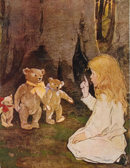 Three Bears, Jessie Willcox Smith (15.5x20)