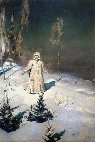 Snow Maiden, Victor Mikhailovich Vasnetsov (19X28)