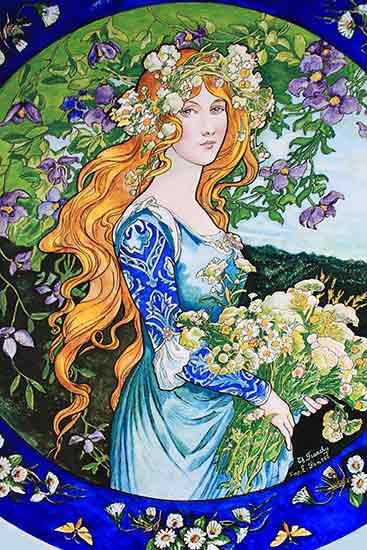 Gathering Flowers,  Elisabeth Sonrel