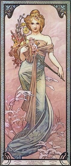 Spring - 1899, Alphonse Mucha