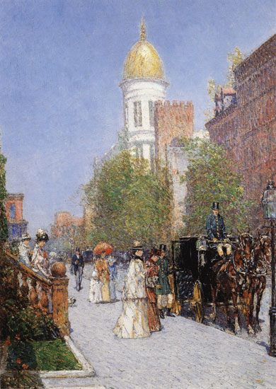 Spring Morning,Childe Hassam,(17X24)