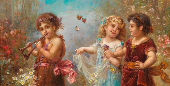 The Spring of Life,Hans Zatzka (16X32)