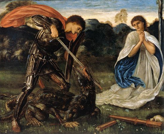 St. George and the Dragon, Edward Burne-Jones