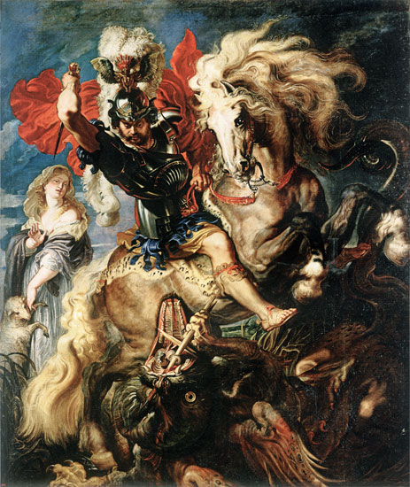 St. George and the Dragon, Peter Paul Rubens