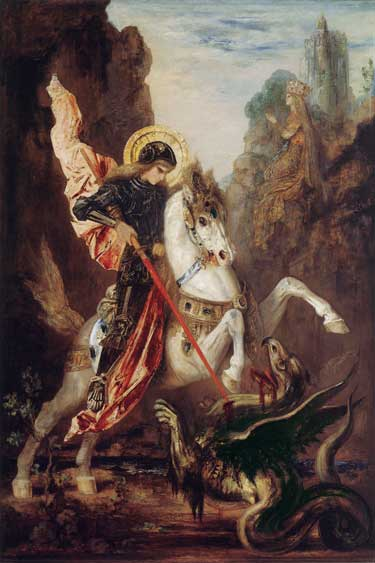 St. George & the Dragon, Moreau (16X24)