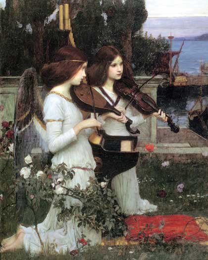 St. Cecilia, detail, Waterhouse (16X20)
