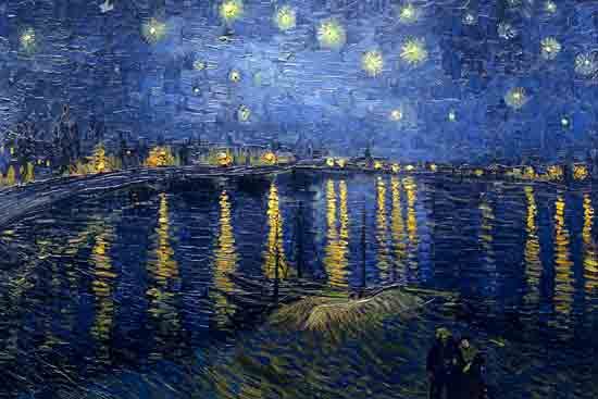 Starry Night over the Rhone,  Vincent van Gogh (22X33)
