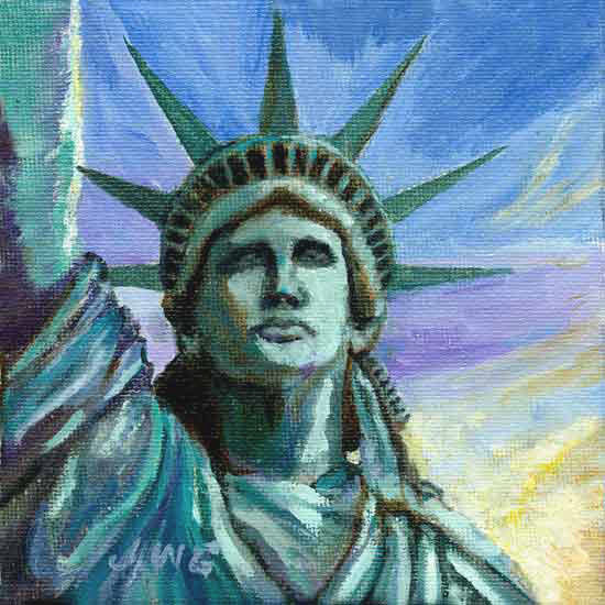 Liberty for All, Joyce Gibson   statue of Liberty