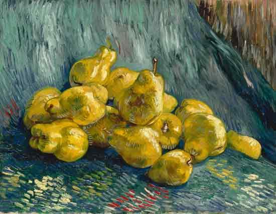 Still Life with Quinces, van Gogh (22X28)
