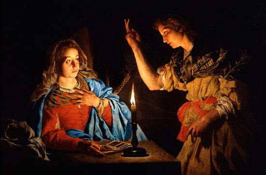 The Annunciation, Matthias Stomer