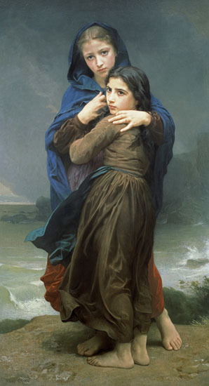 The Storm, Bouguereau (16X29.5)