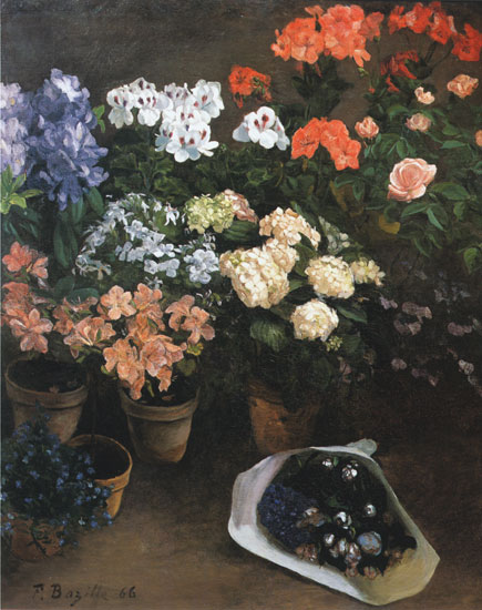 Study of Flowers, Fredric Bazille