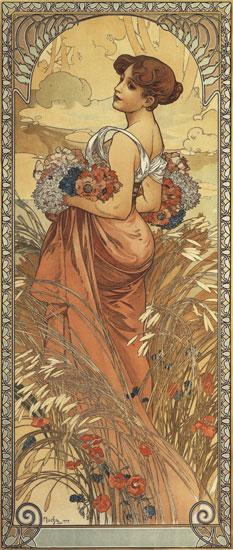 Summer-1903, Alphonse Mucha (14X33)