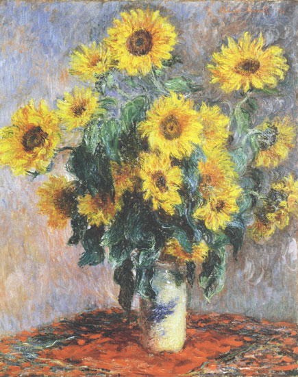Sunflowers, Monet (19X24)