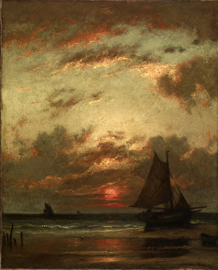 Sunset on the Coast, Jules Dupre  (22x27)