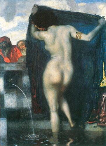 Susanna, Franz von Stuck (16X22)