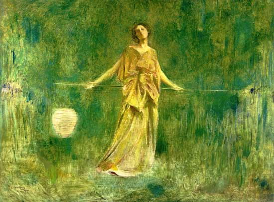 Symphony in Green and Gold, Thomas Dewing