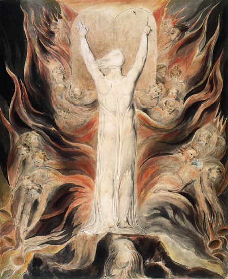 God Writing on the Tables of the Covenant, William Blake