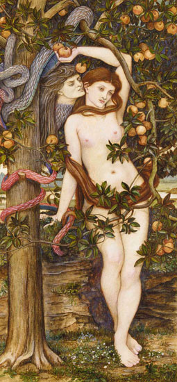 The Temptation of Eve, John Rodham Spencer-Stanhope (15.75X34)
