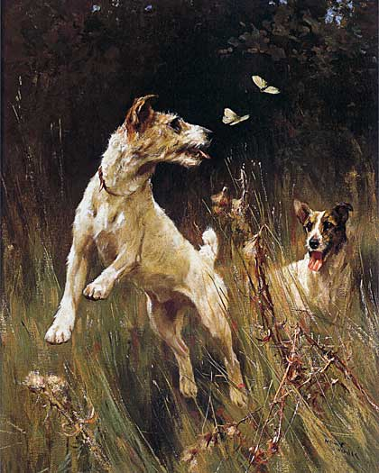 Terriers & Butterflies, Wardel (16X20)