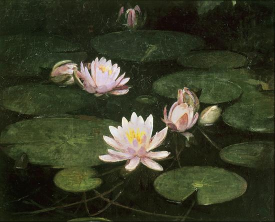 Lily Pond, Abbott Handerson Thayer (17X22)