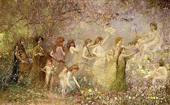 The Blossoms of Spring, Louis Comfort Tiffany