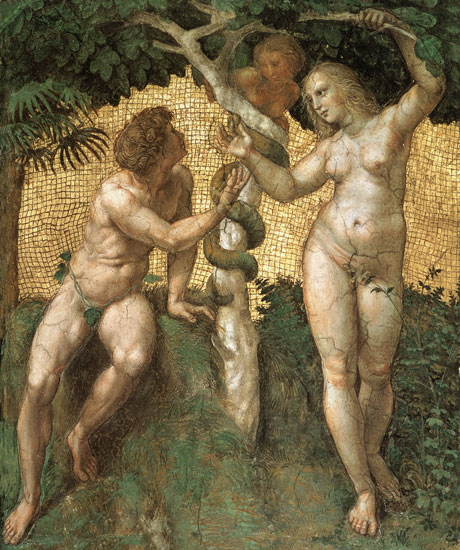 The Fall (Adam and Eve) Raphael (16X21.25)