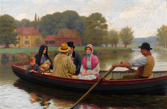 The Ferry, Edmund Blair Leighton