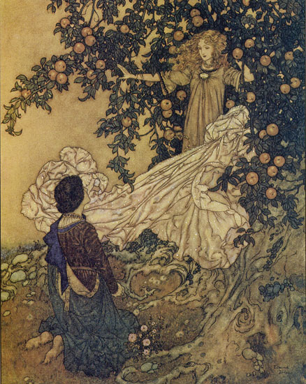 The Garden of Paradise, Edmund Dulac (14X17.5)