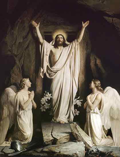 The Resurrection,He is Risen, Carl Bloch
