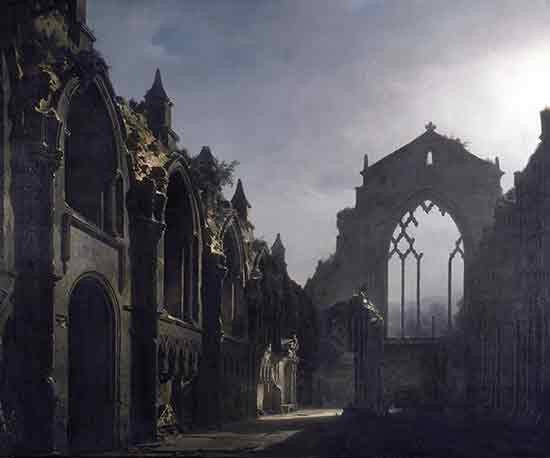 The Ruins of Holyrood Chapel, Louis Daguerre