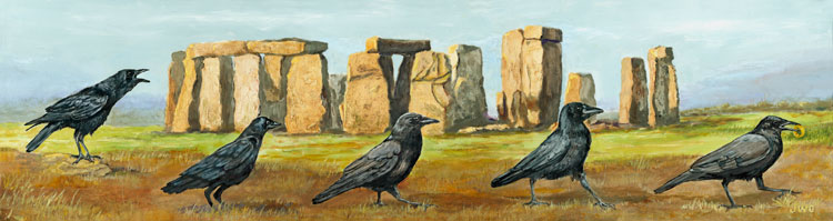 The Search, Stonehenge,Joyce Gibson (11x40)