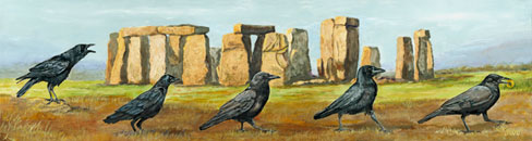 Stonehenge, crows, The Search