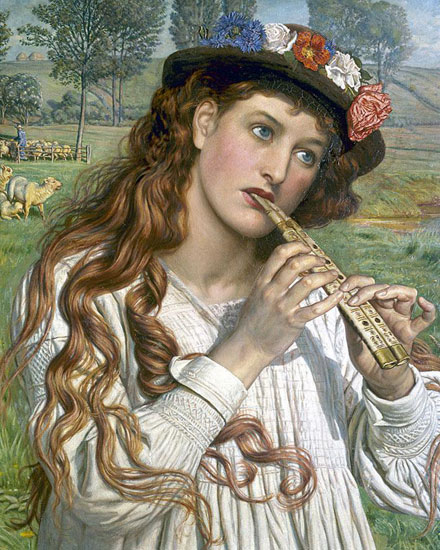 The Shepherdess, William Holman Hunt (16X20)