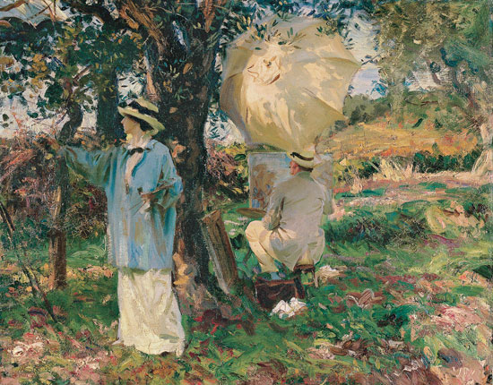 The Sketchers, John Singer Sargent (22X28)