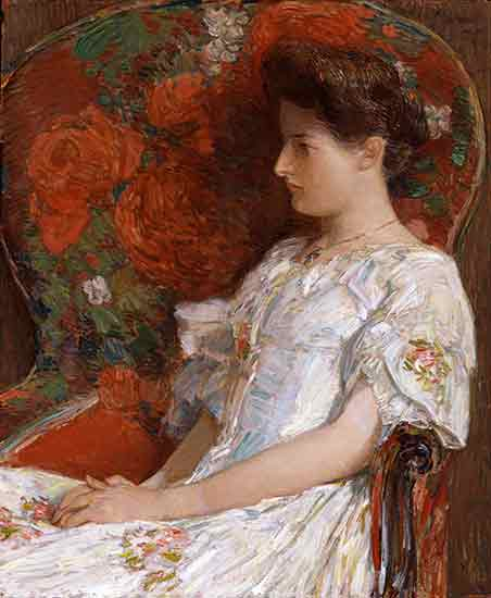 The Victorian Chair, Childe Hassam