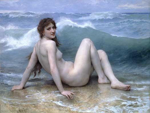 The Wave, Bouguereau (20X26.5)