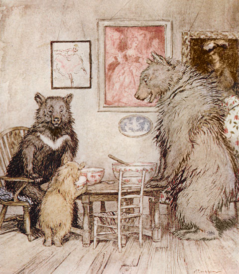 The Three Bears, Arthur Rackham